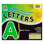 "Pacon® 4"" Self-Adhesive Letters, Green, 78 Characters/Pack"