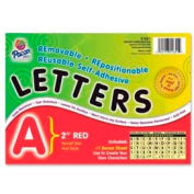 """Pacon® 2"""" Self-Adhesive Letters, Red, 159 Characters/Set"""