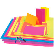 "Pacon® Fade-Resistant Poster Board, 22""W x 28""H, Neon Lime, 25/Carton"