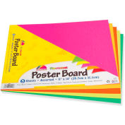 "Pacon® Recyclable Poster Board, 11""W x 14""H, Assorted, 5/Pack"