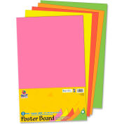 """Pacon® Recyclable Posterboard, 14""""W x 22""""H, Neon, 5/Pack"""