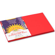 SunWorks® Construction Paper, 58 lbs., 12 x 18, Red, 50 Sheets/Pack