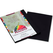Pacon® Peacock Sulphite Construction Paper, 76 lbs., 9 x 12, Black, 50 Sheets/Pack