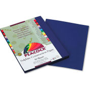 Pacon® Peacock Sulphite Construction Paper, 76 lbs., 9 x 12, Dark Blue, 50 Sheets/Pack