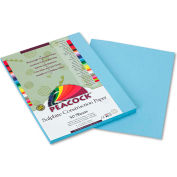 Pacon® Peacock Sulphite Construction Paper, 76 lbs., 9 x 12, Sky Blue, 50 Sheets/Pack