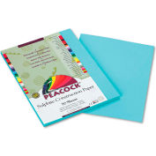 Pacon® Peacock Sulphite Construction Paper, 76 lbs., 9 x 12, Turquoise, 50 Sheets/Pack