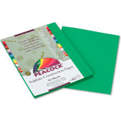 Pacon® Peacock Sulphite Construction Paper, 76 lbs, 9 x 12, Holiday Green, 50 Shts/Pk