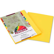 Pacon® Peacock Sulphite Construction Paper, 76 lbs., 9 x 12, Yellow, 50 Sheets/Pack