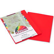 Pacon® Peacock Sulphite Construction Paper, 76 lbs, 9 x 12, Holiday Red, 50 Sheets/Pack