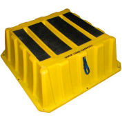 """1 Step Plastic Step Stand Large - Yellow 37""""W x 37""""D x 14""""H - NBST-1 YEL"""