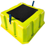 "1 Step Nestable Plastic Step Stand - Yellow 25""W x 25""D x 10""H - NST-1 YEL"