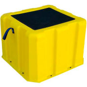 """1 Step Nestable Plastic Step Stand Tall - Yellow 19-1/2""""W x 14""""D x 12""""H - NTST-1 YEL"""