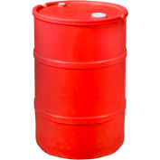 US Roto Molding 15 Gallon Plastic Drum SS-CH-15 - Closed Head with Bung Cover - Lever Lock - Red