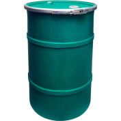 US Roto Molding 55 Gallon Plastic Drum SS-OH-55 - Open Head with Bung Cover - Lever Lock - Green