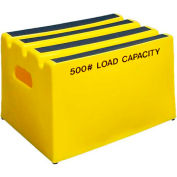 """1 Step Plastic Step Stand - Yellow 19-1/2""""W x 14""""D x 12""""H - ST-1 YEL"""