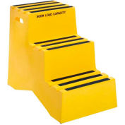 """3 Step Plastic Step Stand - Yellow 20""""W x 33-1/2""""D x 28-1/2""""H - ST-3 YEL"""