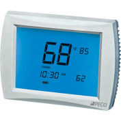 PECO PerformancePRO Thermostat, Programmable, 3H/2C, 24 VAC or Batt Power, 12 Inch Screen