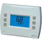 PECO PerformancePRO Thermostat, Programmable, 2H/2C, 24 VAC or Batt Power