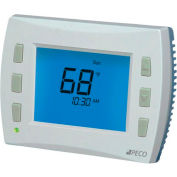 PECO PerformancePRO Thermostat, Programmable, 3H/2C, 24 VAC or Batt Power, 8 Inch Screen