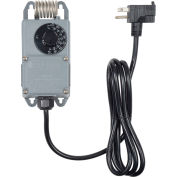 PECO Industrial NEMA 4X Thermostat W/ Power Cord TF115P-002, 40°F-110°F Temperature Range