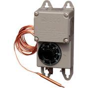 """PECO Industrial NEMA 4X Thermostat, -30°-100° Temperature Range, 8"""" Remote Copper Bulb"""