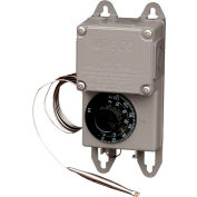 "PECO Industrial NEMA 4X Thermostat, 0°-120° Temperature Range, 5"" Remote Copper Bulb"