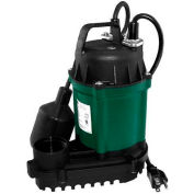 Zoeller Automatic Water Ridd'R III Submersible Sump Pump 49-0006, 1/4 HP