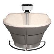 Bradley WF2804 Bradstone 4 Person Classic Washfountain W/Foot Control Valve & Central Vent