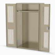 Penco® Patriot Fully Framed TA-50 Locker W/Perforated Door,Expanded Side 42x24x78,Gr,Unssmbld