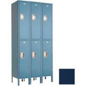 """Penco 6229G-3W-KD-822 Guardian Locker Double Tier 3 Wide, 15""""W x 15""""D x 30""""H, Regal Blue"""