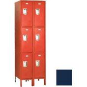 """Penco 6437G-2W-KD-822 Guardian Locker Triple Tier 2 Wide, 15""""W x 21""""D x 24""""H, Regal Blue"""