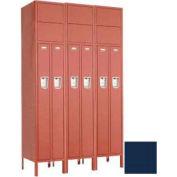 "Penco 6501G-3W-KD-822 Guardian Locker 2 Person 3 Wide, 15""W x 15""D x 72""H, Regal Blue"