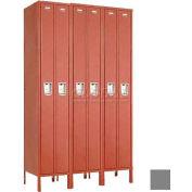 """Penco 6531G-3W-KD-028 Guardian Locker Duplex 3 Wide, 15""""W x 15""""D x 72""""H, Gray"""