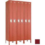 "Penco 6533G-3W-KD-736 Guardian Locker Duplex 3 Wide, 15""W x 18""D x 72""H, Burgundy"