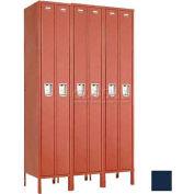 """Penco 6533G-3W-KD-822 Guardian Locker Duplex 3 Wide, 15""""W x 18""""D x 72""""H, Regal Blue"""