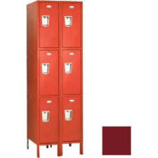 "Penco 6C499-2W-KD-736 Guardian Plus Locker, Triple Tier 2 Wide, 12""W x 21""D x 24""H, Burgundy"