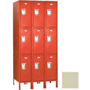"Penco 6E449-3W-KD-073 Guardian Defiant II Locker Triple Tier 3 Wide, 12""W x 21""D x 20""H, Champagne"