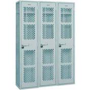 "Penco 6WA630-3W-028 Angle Iron Box Locker, Friction Catch, 6 Tier, 3 Wide, 15""W x 18""D x 12H"", Gray"