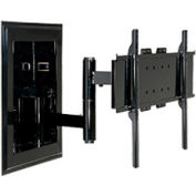 "Universal In-Wall Mount For 32"" - 65"" Flat Panel Screens - Gloss Black"