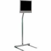 "LCD Pedestal Stand for 10"" to 30"" Flat Panel Screens - Silver"
