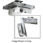Universal Key-Locking Projector Security Mount - White
