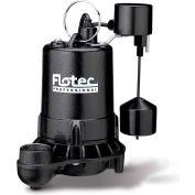 Flotec Professional Series Cast Iron Sewage Pump 3/4 HP, Tethered Switch