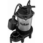 Flotec Submersible Thermoplastic Sump Pump 1/2 HP, Tethered Switch