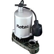 Flotec 1/2 HP Zinc Body Submersible High Output Sump Pump, Tethered Switch