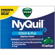 Vicks® NyQuil™ Cold & Flu Nighttime LiquiCaps, 24/Box, 24 Box/Carton