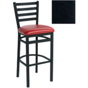 "4 Slat-Back Bar Stool 17-1/2""W X 16""D X 43""H - Black - Pkg Qty 2"