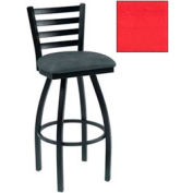 "4 Slat-Back Swivel Bar Stool 17-1/2""W X 16""D X 43""H Red Package Count 2 by More Bar Stools"