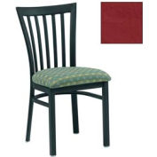 """Vertical Slat-Back Chair 17-1/2""""W X 17""""D X 34""""H - Burgundy - Pkg Qty 2"""