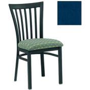 "Vertical Slat-Back Chair 17-1/2""W X 17""D X 34""H - Slate Blue - Pkg Qty 2"
