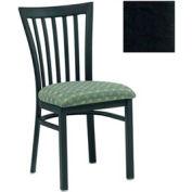 "Vertical Slat-Back Chair 17-1/2""W X 17""D X 34""H - Black - Pkg Qty 2"